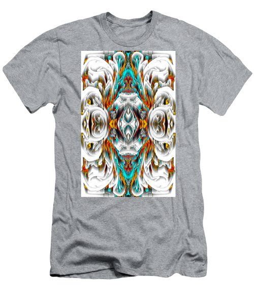 Men's T-Shirt (Athletic Fit) featuring the digital art 992.042212mirror2ornategold-1-a by Kris Haas