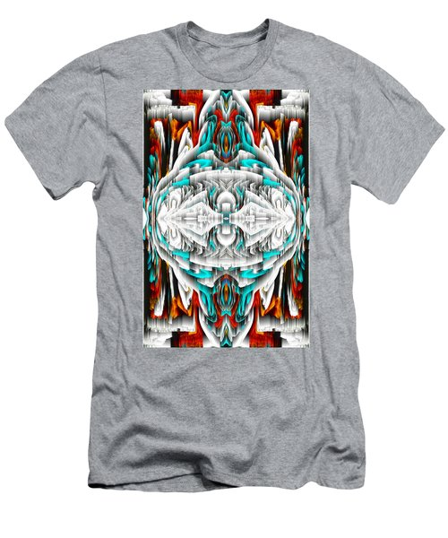 Men's T-Shirt (Athletic Fit) featuring the digital art 992.042212mirror2ornateredablue-1 by Kris Haas