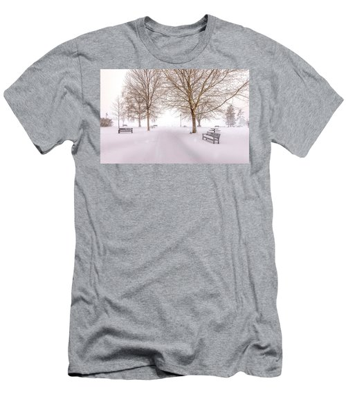 A Beautiful Winter's Morning  Men's T-Shirt (Slim Fit) by John Poon