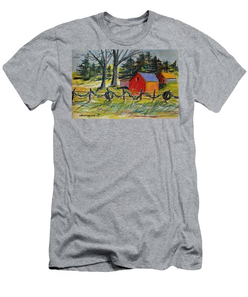 Men's T-Shirt (Slim Fit) featuring the painting A Change Of Season by John Williams