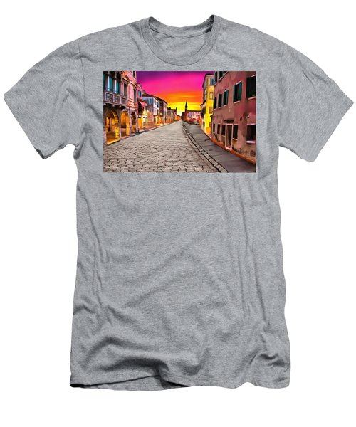 A Cobblestone Street In Venice Men's T-Shirt (Athletic Fit)