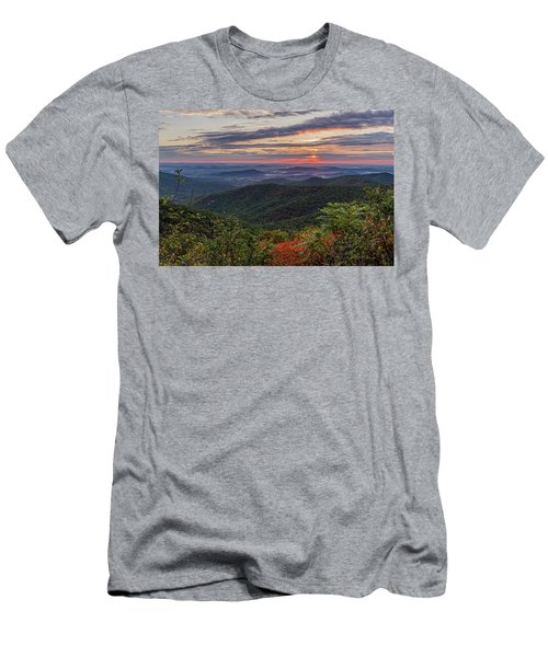 Men's T-Shirt (Athletic Fit) featuring the photograph A Colorful Sunrise by Lori Coleman