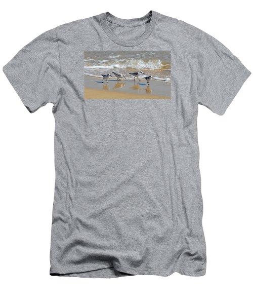 A Cute Quartet Of Sandpipers Men's T-Shirt (Athletic Fit)
