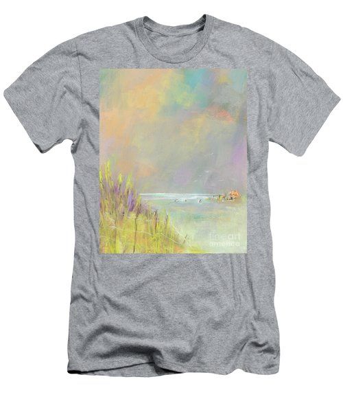 A Day At The Beach Men's T-Shirt (Slim Fit) by Frances Marino