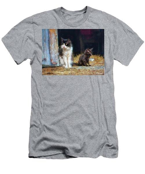 A Day In The Life Of A Barn Cat Men's T-Shirt (Athletic Fit)