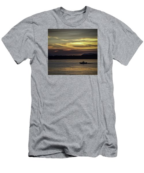 A Day Of Fishing Men's T-Shirt (Athletic Fit)