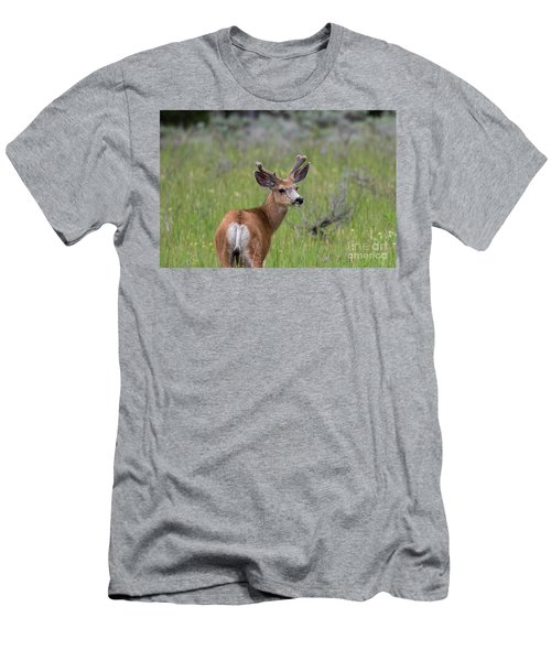 A Deer In Yellowstone National Park  Men's T-Shirt (Athletic Fit)