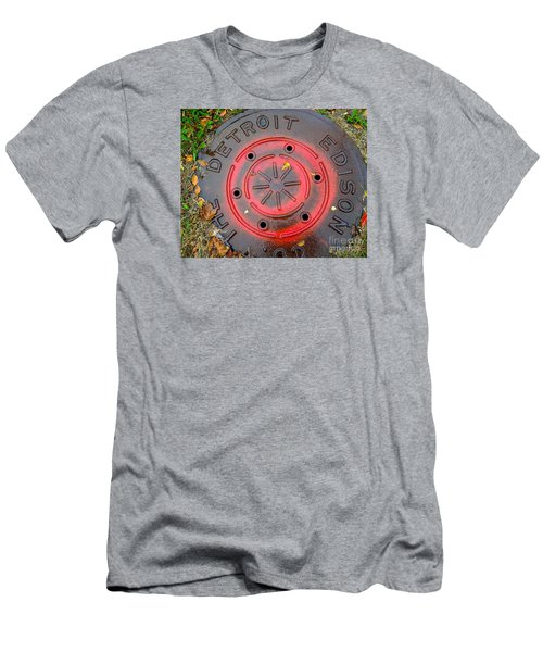 Red Circles  Men's T-Shirt (Athletic Fit)
