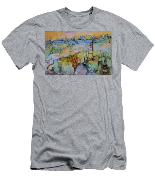 A Fine Day For Sailing Men's T-Shirt (Slim Fit) by Sharon Furner