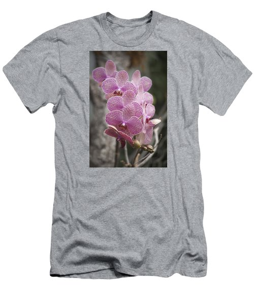 A Flight Of Orchids Men's T-Shirt (Slim Fit) by Morris  McClung