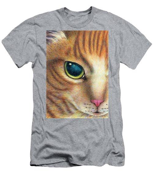 A Ginger Cat Face Men's T-Shirt (Athletic Fit)