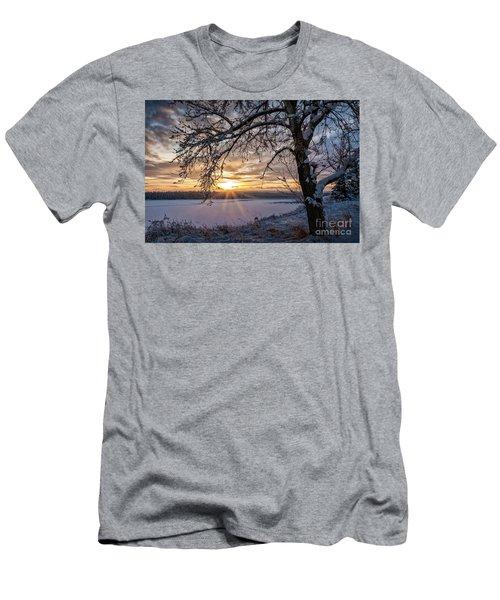 A Glenmore Sunset Men's T-Shirt (Slim Fit) by Brad Allen Fine Art