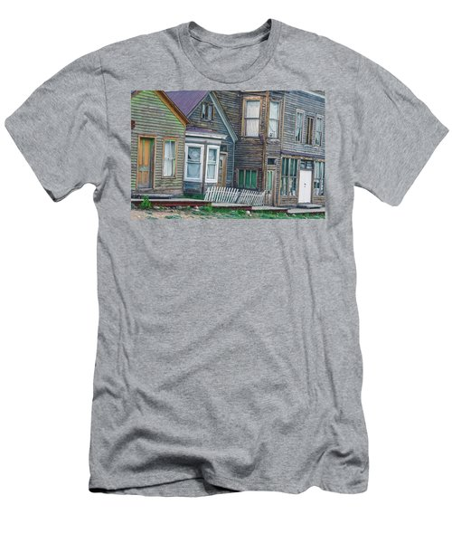 A Haimish Abode From A Bygone Era Men's T-Shirt (Slim Fit) by Bijan Pirnia