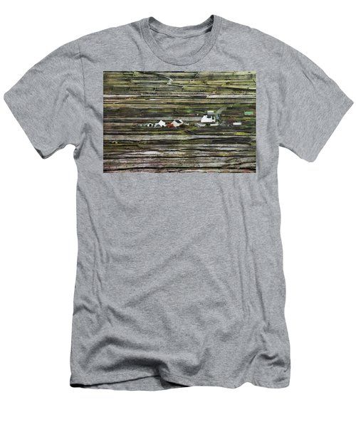 A Landscape With A Farm Men's T-Shirt (Athletic Fit)