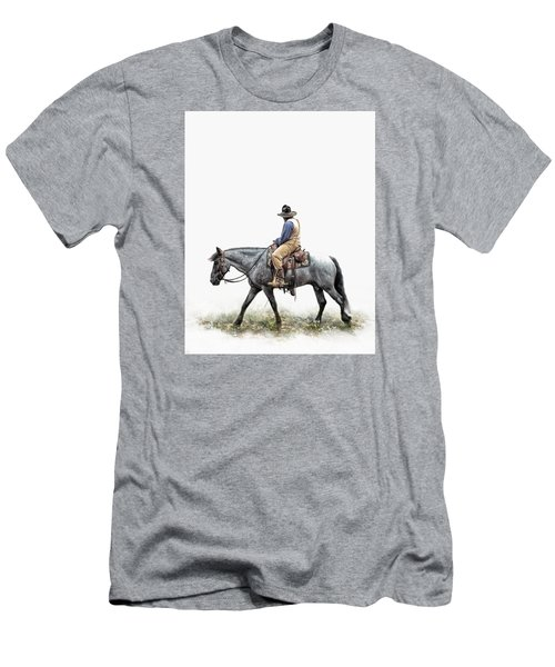 A Long Day On The Trail Men's T-Shirt (Slim Fit) by David and Carol Kelly