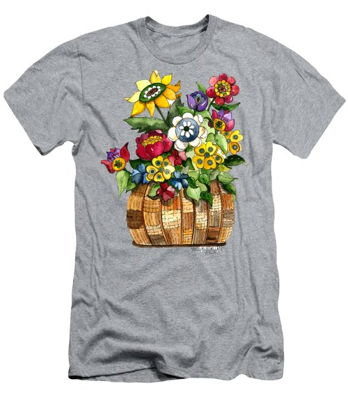 A Lovely Basket Of Flowers Men's T-Shirt (Athletic Fit)