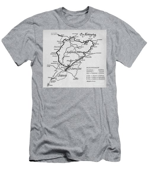 A Map Of The Nurburgring Circuit Men's T-Shirt (Athletic Fit)
