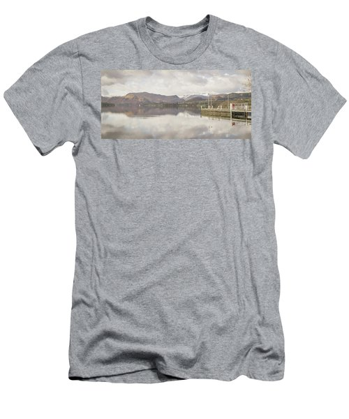 Men's T-Shirt (Athletic Fit) featuring the photograph A Misty Ullswater by RKAB Works