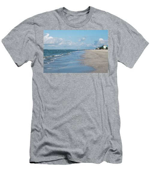 A Morning Walk On Fort Myers Beach Fort Myers Florida Men's T-Shirt (Athletic Fit)