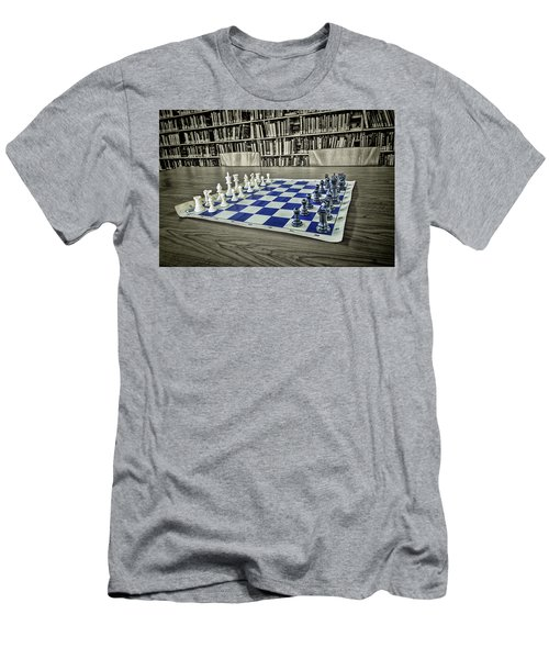 Men's T-Shirt (Athletic Fit) featuring the photograph A Nice Game Of Chess by Lewis Mann