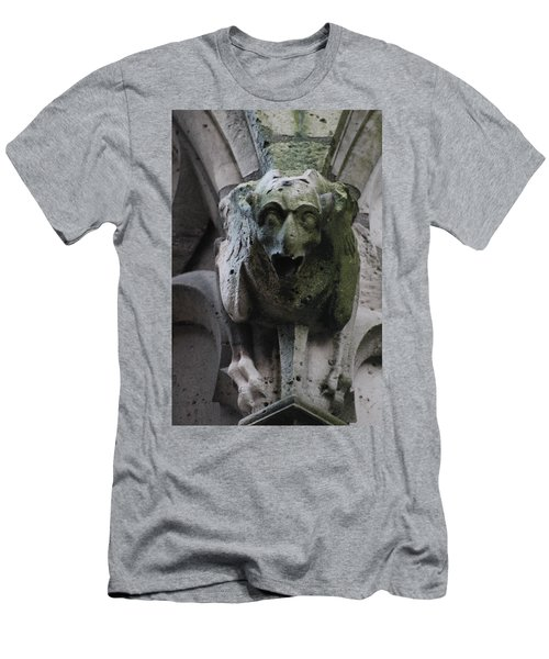 Men's T-Shirt (Slim Fit) featuring the photograph A Notre Dame Griffon by Christopher Kirby