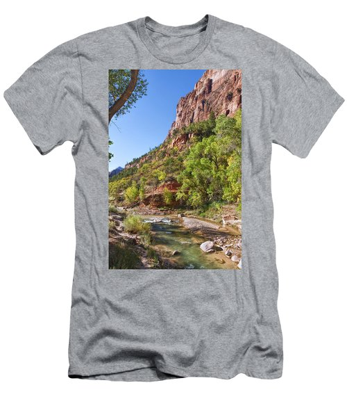 Men's T-Shirt (Athletic Fit) featuring the photograph A Peaceful Zion by John M Bailey