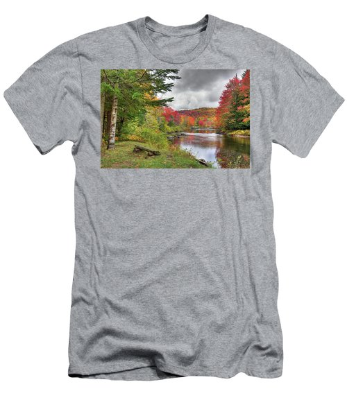 A Place To View Autumn Men's T-Shirt (Slim Fit) by David Patterson