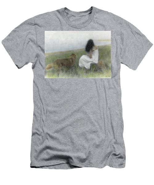 Men's T-Shirt (Athletic Fit) featuring the photograph A Quiet Moment On The Vineyard by Wayne King
