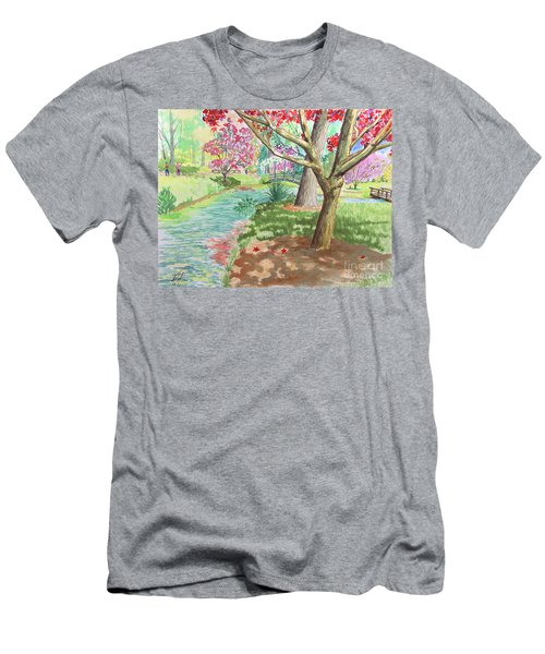 A Quiet Stroll In The Japanese Gardens Of Gibbs Gardens Men's T-Shirt (Athletic Fit)