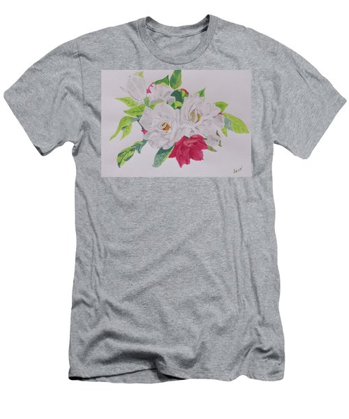 A Rose Bouquet Men's T-Shirt (Slim Fit) by Hilda and Jose Garrancho