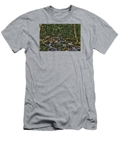 A River Through The Woods Men's T-Shirt (Athletic Fit)