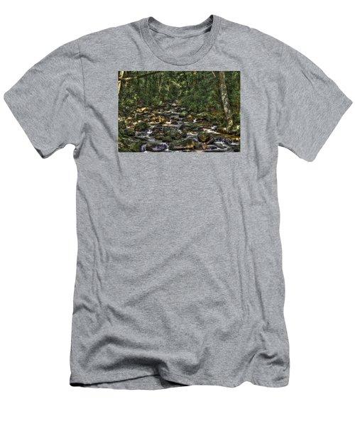 A River Through The Woods Men's T-Shirt (Slim Fit)