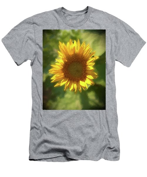 A Single Sunflower Showing It's Beautiful Yellow Color Men's T-Shirt (Athletic Fit)
