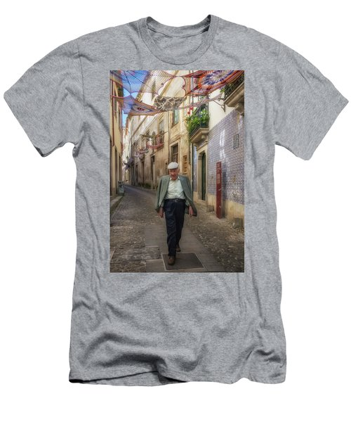 Men's T-Shirt (Slim Fit) featuring the photograph A Stoll In Coimbra by Patricia Schaefer