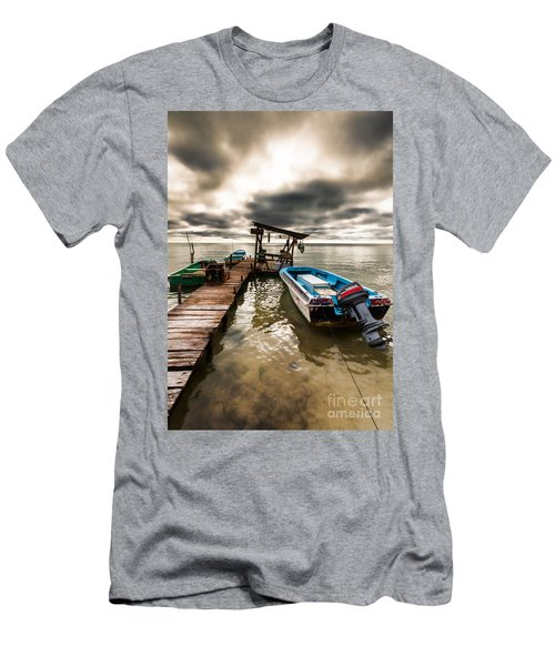 A Storm Brewing Men's T-Shirt (Slim Fit) by Lawrence Burry