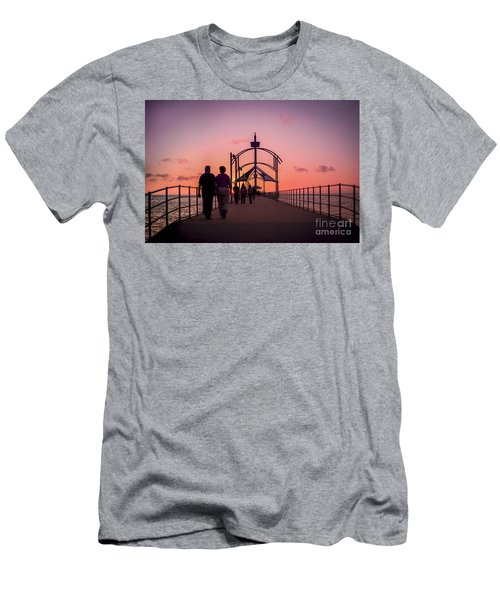 A Stroll Along Sunset Pier Men's T-Shirt (Athletic Fit)