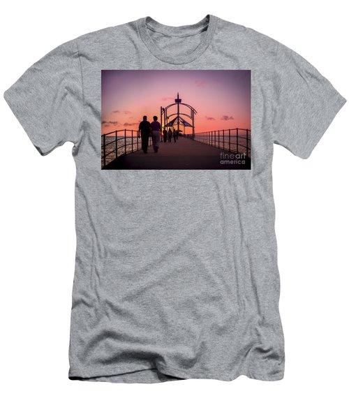A Stroll Along Sunset Pier Men's T-Shirt (Athletic Fit)
