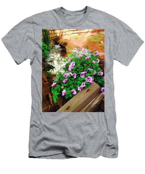 Men's T-Shirt (Slim Fit) featuring the painting A Touch Of Nature by Sandy MacGowan
