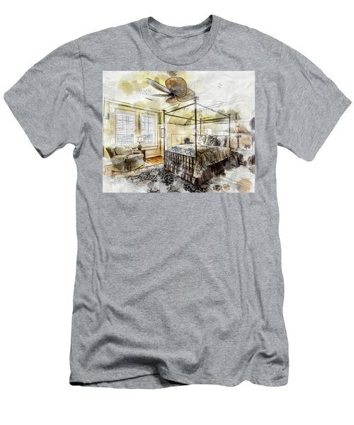 A Traditional Bedroom Men's T-Shirt (Athletic Fit)