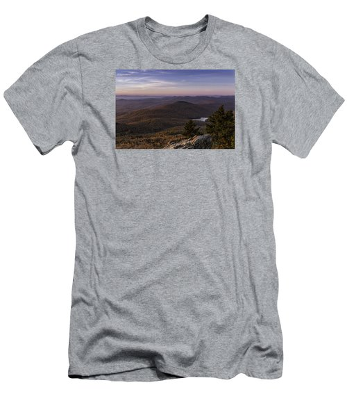Men's T-Shirt (Athletic Fit) featuring the photograph A View Of Grandmother Mountain And Lake by Ken Barrett