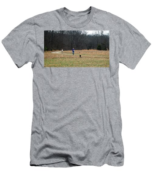 A Walk In A Field Men's T-Shirt (Athletic Fit)