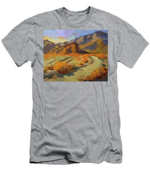A Walk In La Quinta Cove Men's T-Shirt (Slim Fit) by Diane McClary
