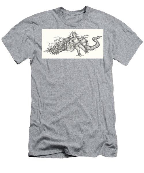 Real Fake News Foto A Warm Log Men's T-Shirt (Athletic Fit)