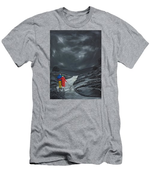 Men's T-Shirt (Slim Fit) featuring the painting A Wee Bijou Strollette by Scott Wilmot