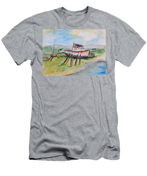 Abandoned Fishing Boat Men's T-Shirt (Athletic Fit)