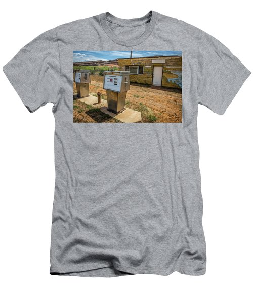 Abandoned Gas Station Men's T-Shirt (Athletic Fit)