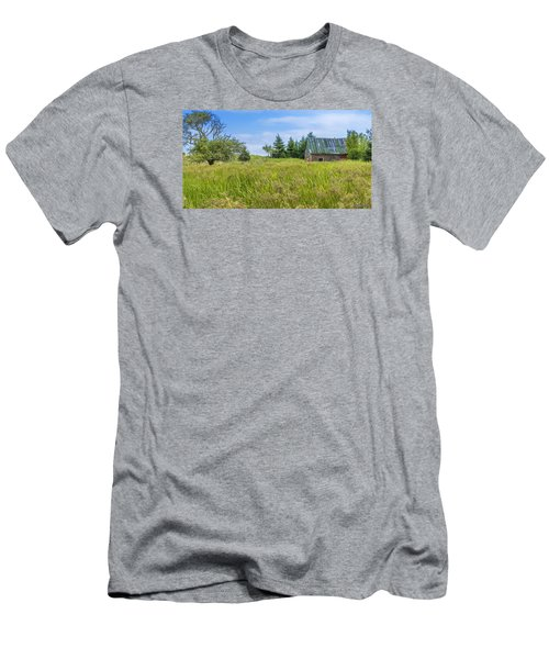 Abandoned House In Feltzen South Men's T-Shirt (Slim Fit) by Ken Morris