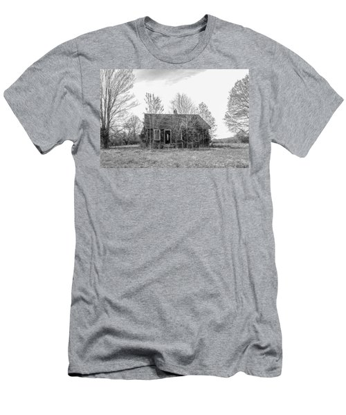 Men's T-Shirt (Athletic Fit) featuring the photograph Abandoned House Queenstown, Md  by Charles Kraus