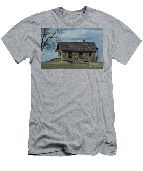 Abandoned Kansas Stone House Men's T-Shirt (Slim Fit) by Mark McReynolds