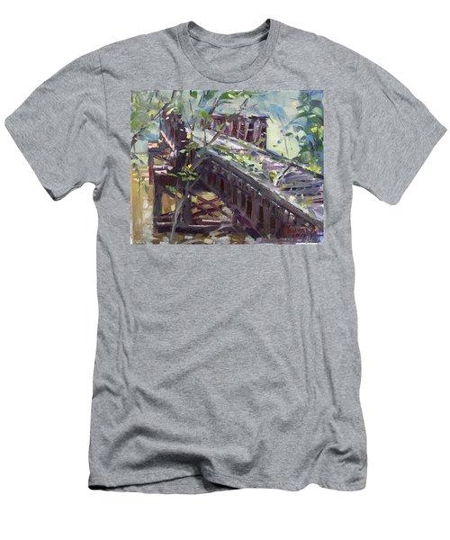 Abandoned Railroad Bridge In Tonawanda Men's T-Shirt (Athletic Fit)